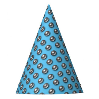 Chrome Balls on Blue Party Hat