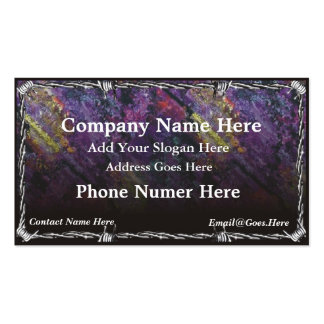 Chrome Barb Wire Business Card