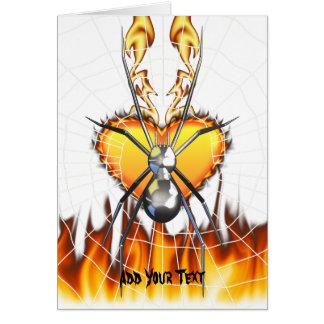 Chrome Black Widow 4 Design Greeting Cards