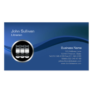 Chrome Books Icon Librarian Business Card