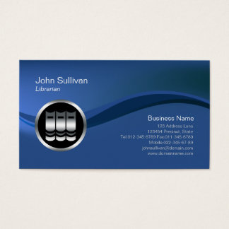 Chrome Books Icon Librarian Business Card