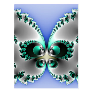 Chrome Butterfly Postcard