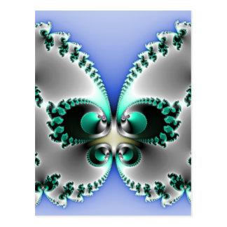 Chrome Butterfly Postcard