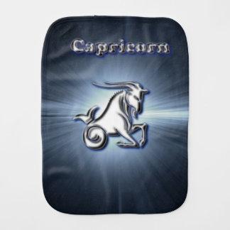 Chrome Capricorn Burp Cloth