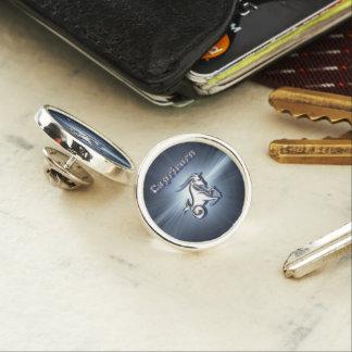 Chrome Capricorn Lapel Pin