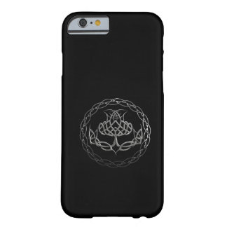 Chrome Celtic Knot Thistle Barely There iPhone 6 Case