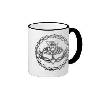 Chrome Celtic Knot Thistle Ringer Mug