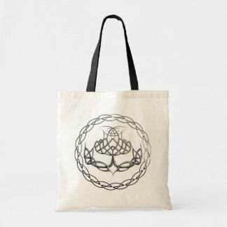Chrome Celtic Knot Thistle Tote Bag