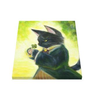 Chrome clover canvas print