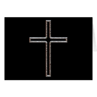 Chrome Crucifix Hollow Note Card