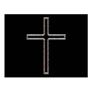 Chrome Crucifix Hollow Postcard