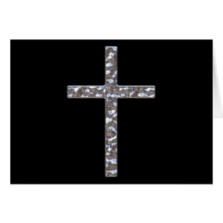 Chrome Crucifix Solid Greeting Card