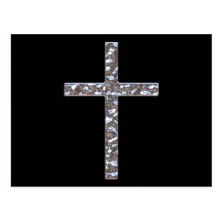 Chrome Crucifix Solid Postcard