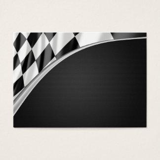 Chrome Curve Flag Business Card