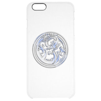 Chrome Dragon Crest on Clear Print Clear iPhone 6 Plus Case
