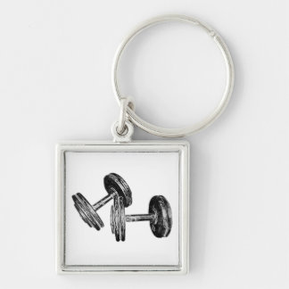 Chrome Dumbbells Key Chain