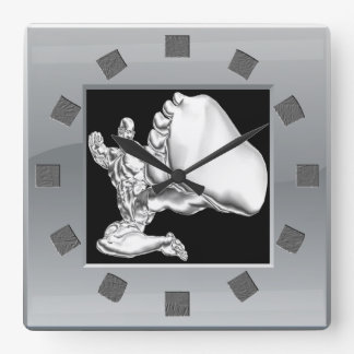 Chrome Fighter Wall Clock