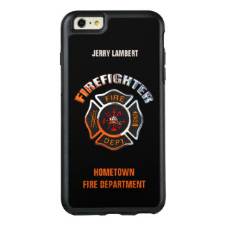 Chrome Firefighter Name Template OtterBox iPhone 6/6s Plus Case