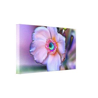 Chrome Flower on Canvas Canvas Prints