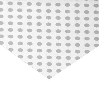 Chrome Grey Polka Dots Circles Tissue Paper