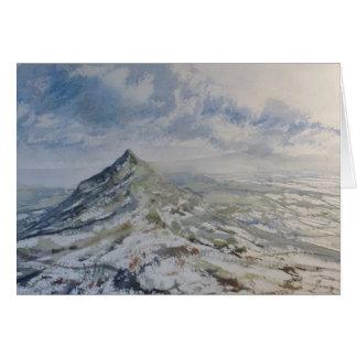 Chrome Hill, Peak District England. Greeting card, Card