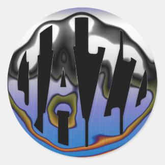 CHROME JAZZ CLASSIC ROUND STICKER
