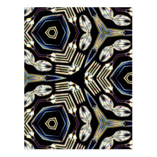 Chrome Kaleidoscope Pattern Post Cards