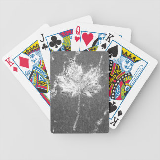 Chrome Leaf Bicycle Playing Cards