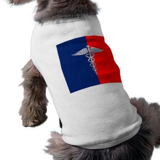 Chrome Like Caduceus Medical Symbol League Sleeveless Dog Shirt