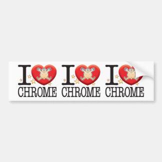 Chrome Love Man Bumper Sticker