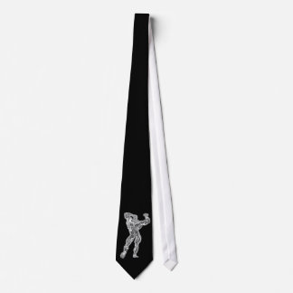 Chrome Man Bodybuilder Pose Necktie