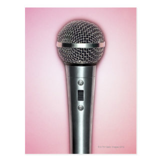 Chrome Microphone Postcard