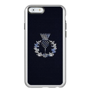 Chrome on Carbon Fiber Print Scottish Thistle Incipio Feather® Shine iPhone 6 Case