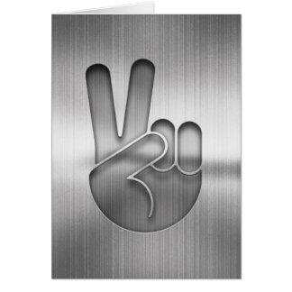 Chrome Peace Hand Card