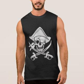 Chrome Pirate Skull Sleeveless Shirt