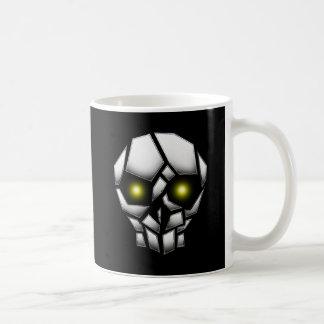 Chrome Plated Skull with Glowing Eyes Coffee Mug