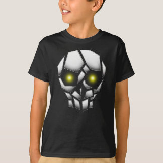 Chrome Plated Skull with Glowing Eyes T-Shirt