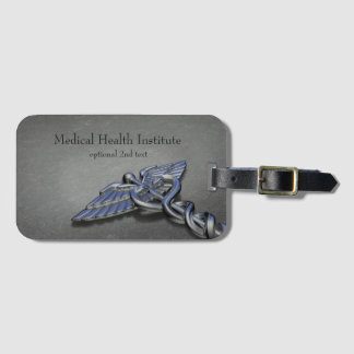 Chrome Professional Medical Caduceus - Luggage Tag