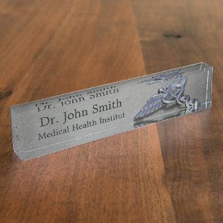 Chrome Professional Medical Caduceus - Nameplate