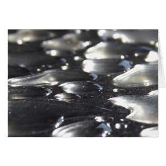Chrome Raindrops Greeting Cards