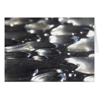 Chrome Raindrops Greeting Card