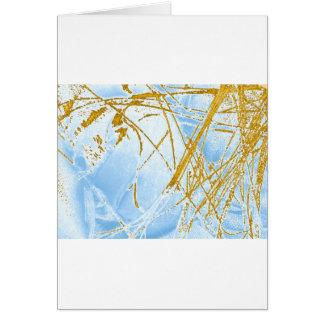 chrome reverse fabric greeting card