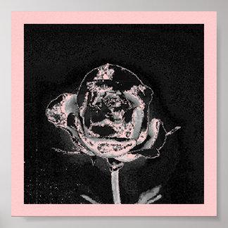 Chrome Rose Poster Print