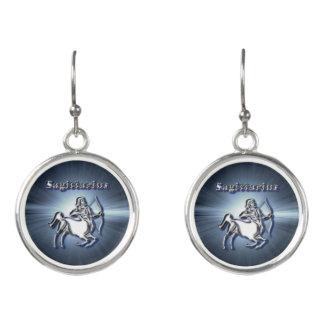 Chrome Sagittarius Earrings