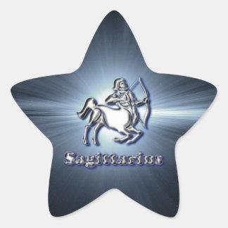 Chrome Sagittarius Star Sticker