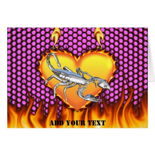 Chrome Scorpion 1 with Candy Apple Honeycomb Greeting Cards