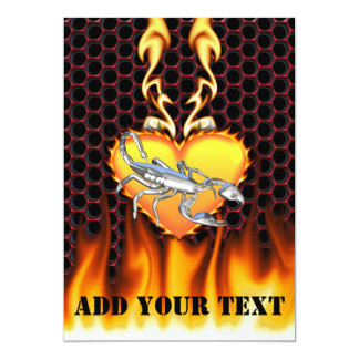 Chrome Scorpion 1 with Candy Apple Honeycomb Invite