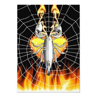 Chrome scorpion design 4 with fire and web invite