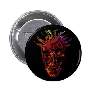 chrome skulls pin
