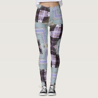Chrome Squares Lavender Geometric Leggings